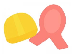 防災の日・防災頭巾のイラスト