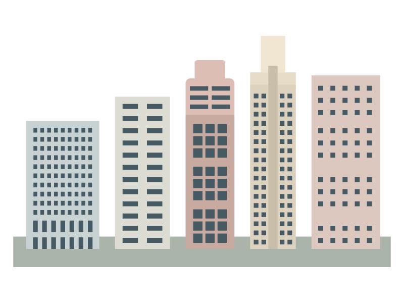 ビル・建物のイラスト02
