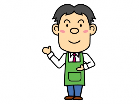 スーパー・コンビニ店員のイラスト