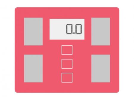 デジタルの体重計のイラスト