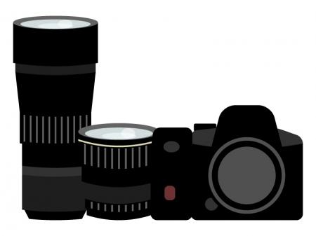 カメラ・ダブルズームキットのイラスト