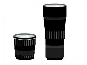 カメラレンズ(標準・望遠)のイラスト