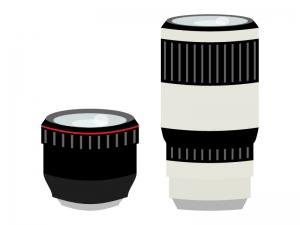 カメラレンズ(標準・望遠)のイラスト02