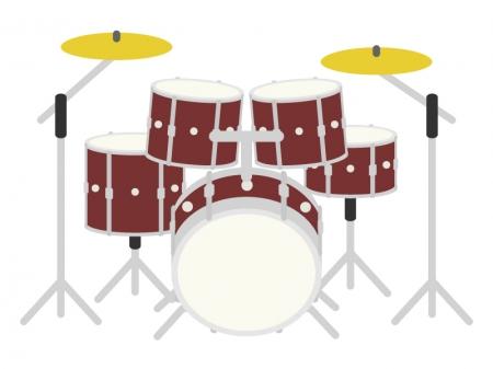楽器・ドラムセットのイラスト
