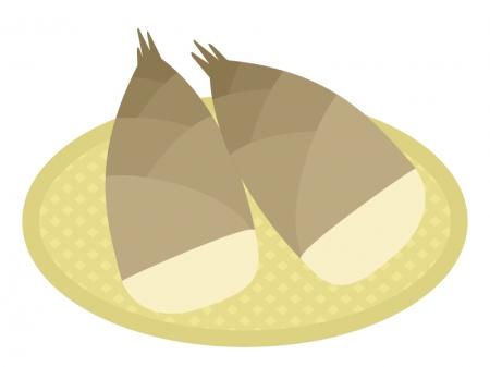 筍(たけのこ)のイラスト