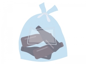空き瓶のゴミ袋のイラスト