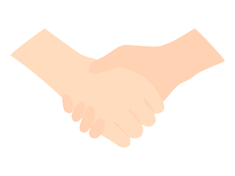 握手のイラスト