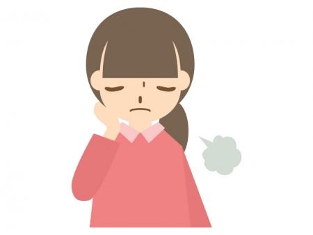 ため息をしてがっくりしている人のイラスト