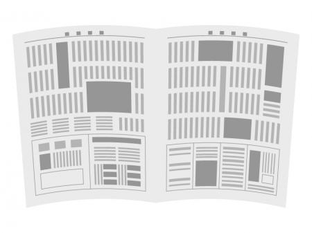 広げた新聞紙のイラスト