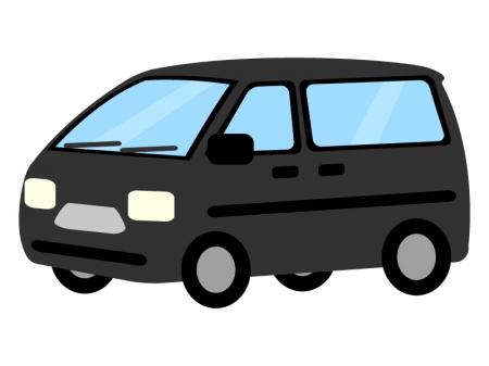 自動車・1BOXカーのイラスト