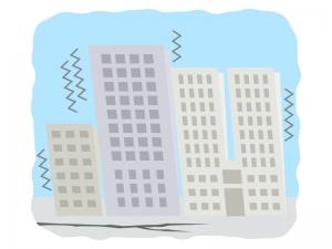 天災・地震のイラスト
