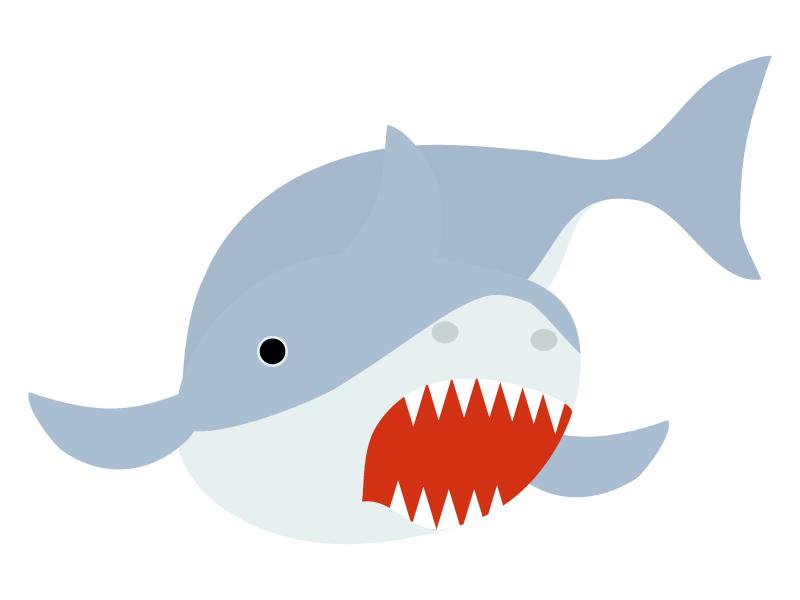 鮫のイラスト