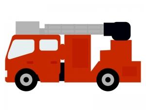 消防車(はしご車)のイラスト