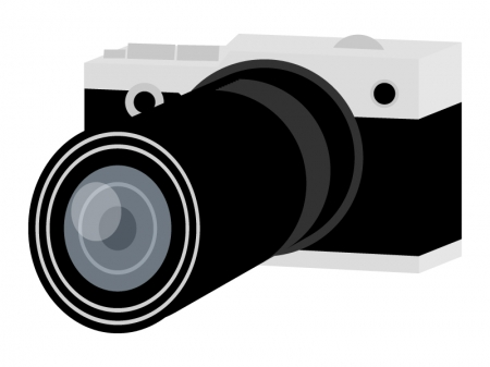 アンティークな一眼レフカメラのイラスト