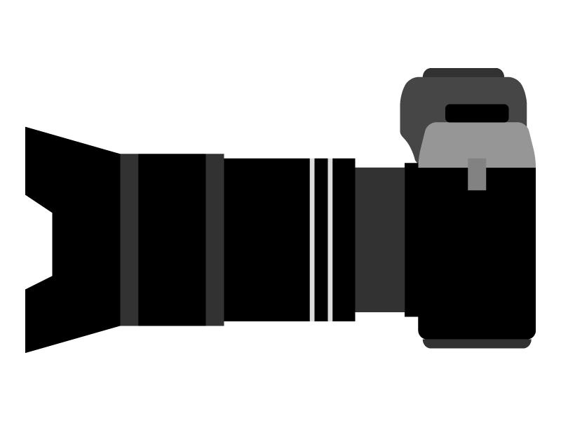 一眼レフカメラのイラスト