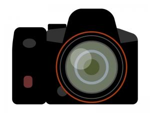 一眼レフカメラのイラスト02