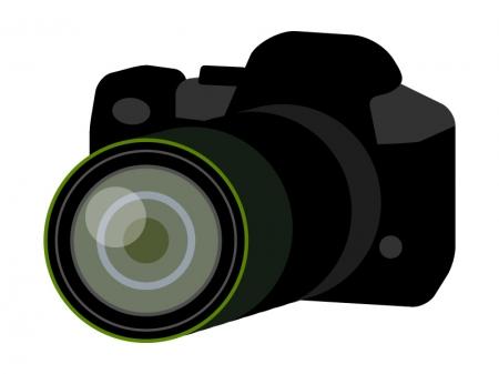 一眼レフカメラのイラスト03