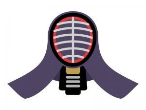 剣道・面のイラスト