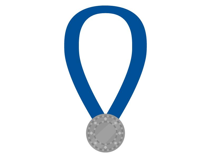 入賞メダルのイラスト