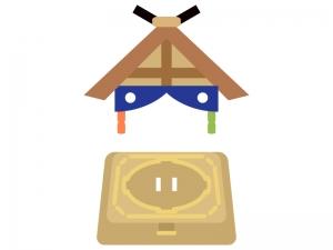 相撲・土俵のイラスト