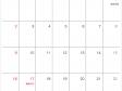 シンプルな2018年9月(平成30年)カレンダー・A4印刷用