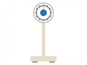 アナログの体重計のイラスト02