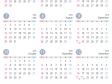 [4月始まり]2018年4月~2019年3月の年間カレンダー