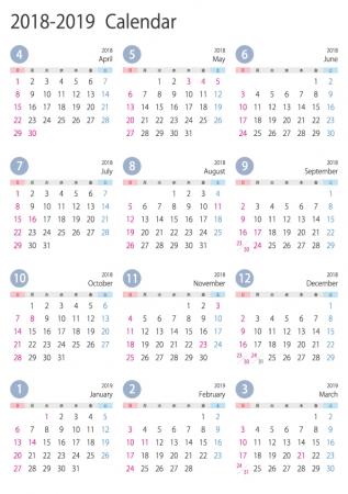 [4月始まり]2018年4月~2019年3月の年間