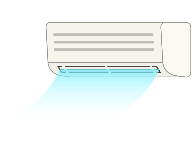 エアコンの冷房のイラスト