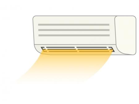 エアコンの暖房のイラスト