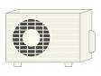 エアコンの室外機のイラスト