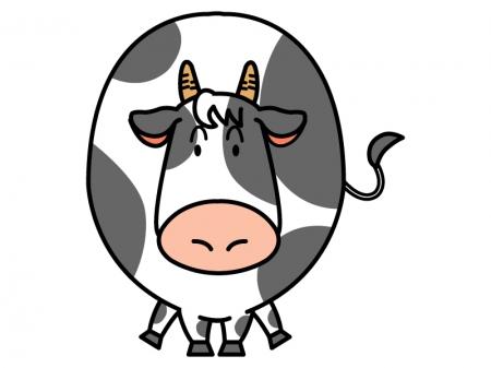 かわいい牛のイラスト02