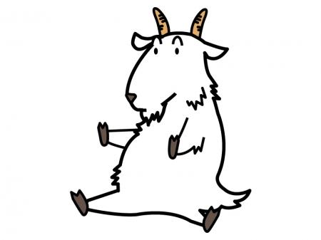 かわいい山羊のイラスト