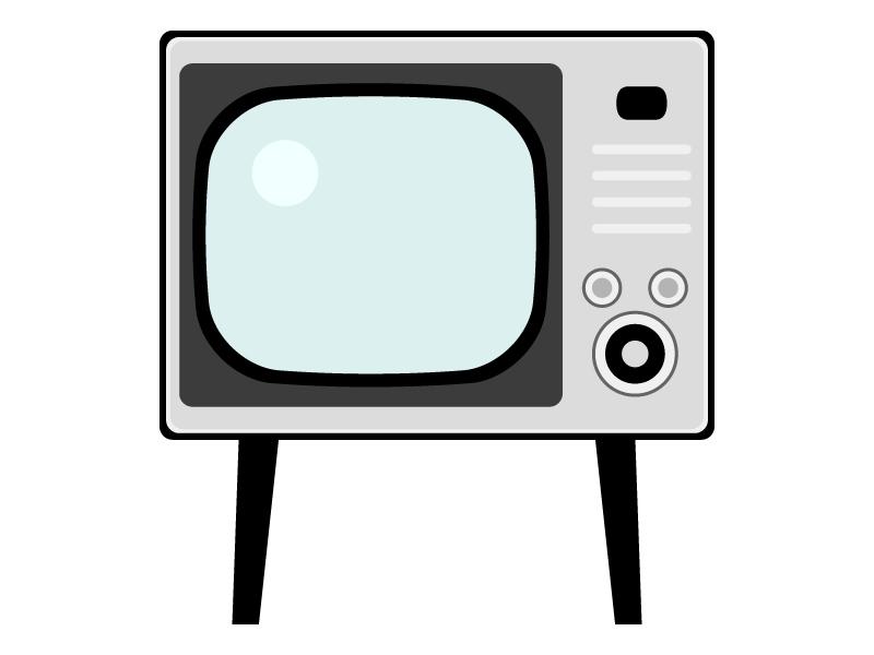 レトロなブラウン管テレビのイラスト02