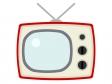 レトロなブラウン管テレビのイラスト03
