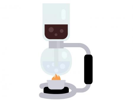 サイフォンコーヒーのイラスト02