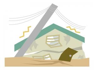 地震・災害のイラスト