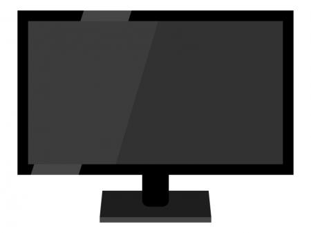 液晶薄型テレビ・モニターのイラスト