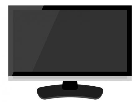 液晶薄型テレビ・モニターのイラスト02