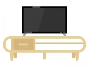 テレビとテレビボードのイラスト02