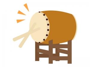 和太鼓を叩いているイラスト