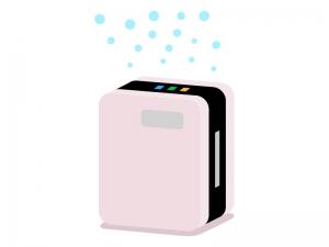 マイナスイオン・空気清浄機のイラスト