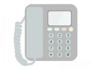 家庭用の電話機のイラスト