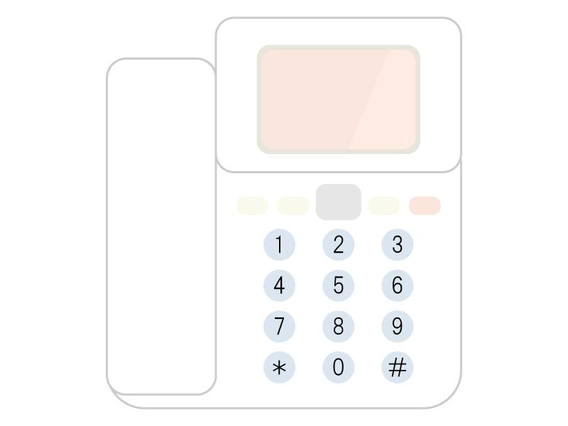 家庭用の電話機のイラスト02