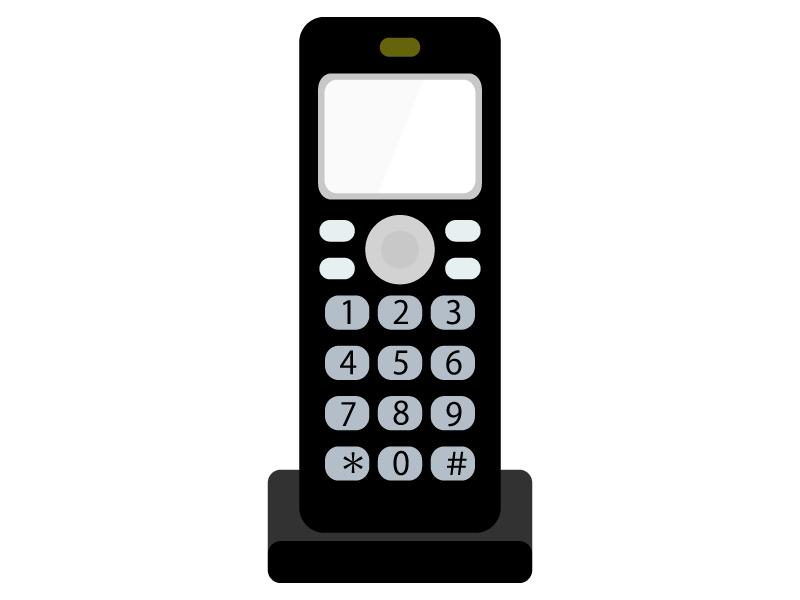 家庭用の電話機・子機のイラスト