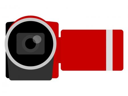 家庭用ビデオカメラのイラスト