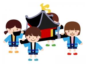 子供神輿のイラスト