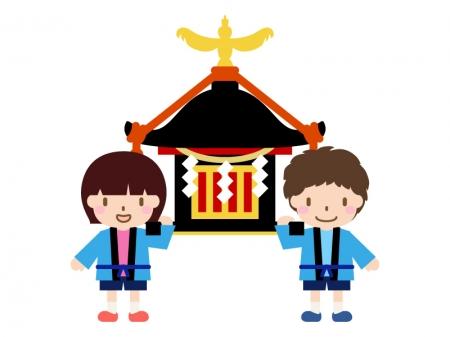 子供神輿のイラスト02
