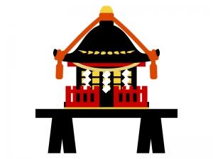 お神輿のイラスト