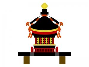 お神輿のイラスト素材03